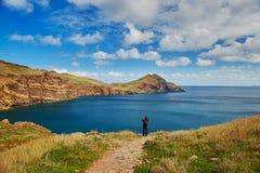 Landschap van Ponta DE Sao Lourenco op de Oostelijke kust van het eiland van Madera, Portugal Stock Afbeelding