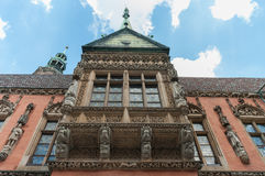 Landschap van Poolse architectuur Stock Foto's