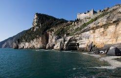 Landschap van Portovenere, weinig dorp dichtbij La Spezia Royalty-vrije Stock Afbeelding