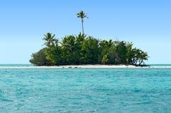 Landschap van Rapota-Eiland in Aitutaki-Lagune Cook Islands Stock Foto's