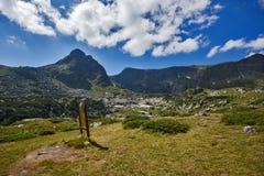 Landschap van Rila-Berg dichtbij, de Zeven Rila-Meren, Bulgari Royalty-vrije Stock Foto's