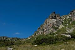 Landschap van Rila-Berg dichtbij de Zeven Rila-Meren, Bulgarije Stock Afbeeldingen