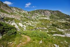 Landschap van Rila-Berg dichtbij de Zeven Rila-Meren, Bulgarije Royalty-vrije Stock Foto