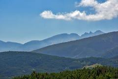 Landschap van Rila Mountan dichtbij, de Zeven Rila-Meren, Bulgarije Royalty-vrije Stock Afbeelding