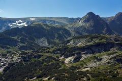 Landschap van Rila Mountan dichtbij, de Zeven Rila-Meren, Bulgarije Stock Foto