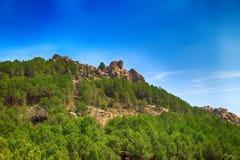 Landschap van Rocky Mountains in Spanje Stock Afbeeldingen