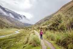 Landschap van Santa Cruz Trek, Cordillerablanca, Peru South America stock afbeelding