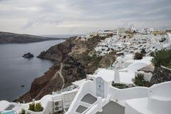 Landschap van santorini van Griekenland Stock Afbeelding