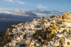 Landschap van santorini van Griekenland Stock Foto