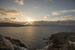Landschap van santorini van Griekenland Royalty-vrije Stock Foto
