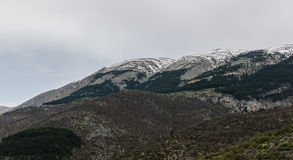 Landschap van Scanno, Italië Royalty-vrije Stock Foto's