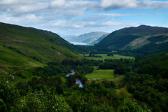 Landschap van Schotse Hooglanden stock foto's