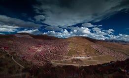 Landschap van Sedah in Ganzi, Sichuan, China royalty-vrije stock afbeelding