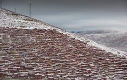 Landschap van Sedah in Ganzi, Sichuan, China stock afbeelding
