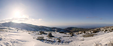 Landschap van Serra da Estrela Stock Foto