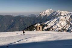Landschap van sneeuwberg royalty-vrije stock afbeeldingen