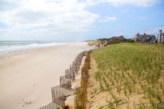 Landschap van Southampton strand, Long Island Royalty-vrije Stock Afbeeldingen