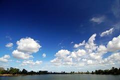 Landschap van Srah Srang, het koninklijke bad Royalty-vrije Stock Fotografie