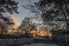 Landschap van stadspark Yambol royalty-vrije stock fotografie