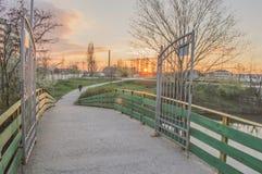 Landschap van stadspark Yambol Royalty-vrije Stock Foto's