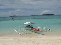 Landschap van strand van het paradijs het tropische eiland, Coron, Filippijnen royalty-vrije stock foto