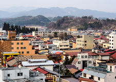 Landschap van Takayama-stad, Japan 3 Stock Foto