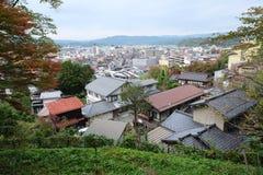 Landschap van Takayama-stad vanaf de bovenkant Royalty-vrije Stock Foto