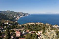 Landschap van Taormina Royalty-vrije Stock Afbeeldingen