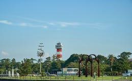Landschap van Tokiwa-Park Royalty-vrije Stock Afbeeldingen