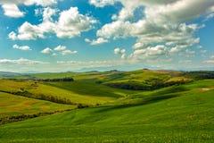 Landschap van Toscaans platteland Royalty-vrije Stock Afbeelding