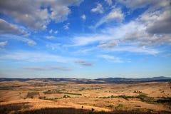 Landschap van Toscanië Royalty-vrije Stock Afbeeldingen