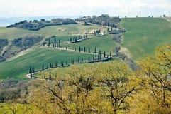 Landschap van Toscanië, Italië Stock Foto