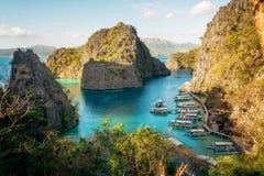 Landschap van tropisch eiland Coroneiland filippijnen stock fotografie