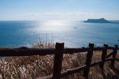Landschap van Udo-eiland in Jeju-Eiland, Zuid-Korea Stock Foto