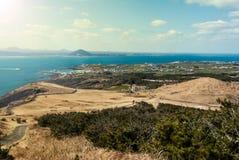 Landschap van Udo-eiland in Jeju-Eiland, Zuid-Korea Stock Foto's