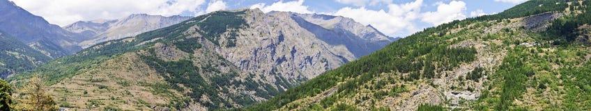 Landschap van vallei Frejus Stock Foto
