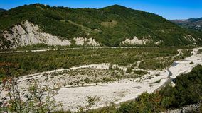 Landschap van Valmarrechia Italië royalty-vrije stock afbeelding