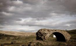 Landschap van Verlaten Brug Royalty-vrije Stock Foto's