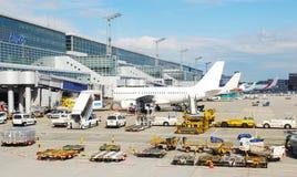 Landschap van vliegveld royalty-vrije stock afbeelding