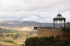 Landschap van vruchtbare vallei onder Ronda, Spanje Royalty-vrije Stock Foto's