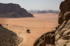 Landschap van Wadi Rum, Jordanië Royalty-vrije Stock Fotografie