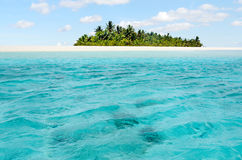 Landschap van Wittebroodswekeneiland in Aitutaki-Lagune Cook Islands Stock Afbeeldingen