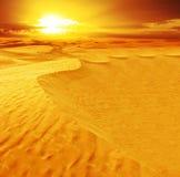 Landschap van woestijn Royalty-vrije Stock Afbeeldingen