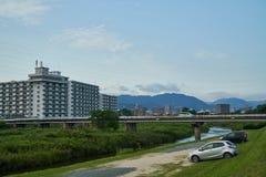 Landschap van Yamaguchi-Stad Stock Afbeeldingen