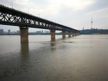 Landschap van Yangtze-rivier stock afbeelding