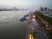 Landschap van Yangtze-rivier royalty-vrije stock fotografie