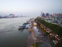 Landschap van Yangtze-rivier royalty-vrije stock afbeelding