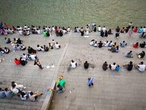 Landschap van Yangtze-rivier stock foto