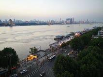 Landschap van Yangtze-rivier royalty-vrije stock foto