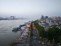 Landschap van Yangtze-rivier stock foto's